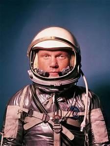 Astronaut John Glenn in a Mercury Program Pressure Suit ...