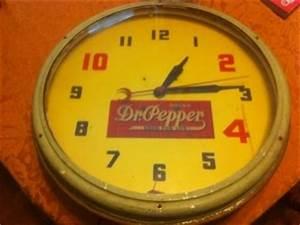 Vintage Neon Dr Pepper Advertising Clock