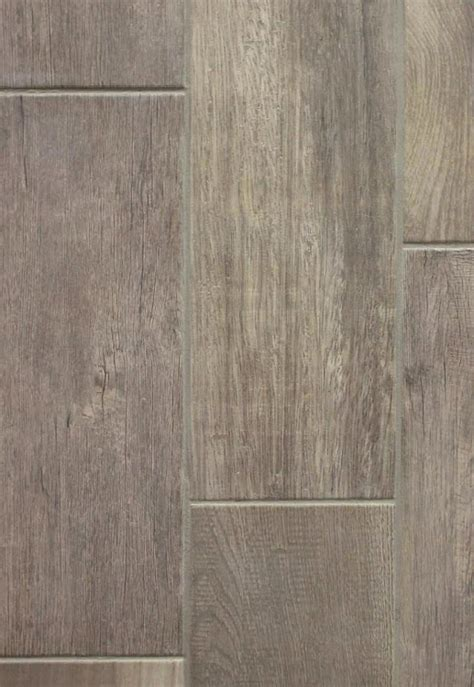 Emblem Grey Wood 7 x 20 Ceramic Floor Tile   Carpetmart.com