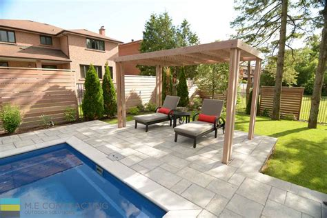 landscaping design composite deck pool installation and