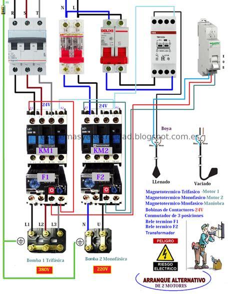 esquema de arranque para dos motores alternativo convertimage postimage org electromecanica