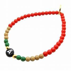 initial alphabet letter charm glass bead bracelet dana With alphabet letters for bracelets