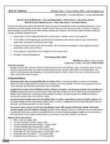 sle resume exles sle resume objective for sales representative