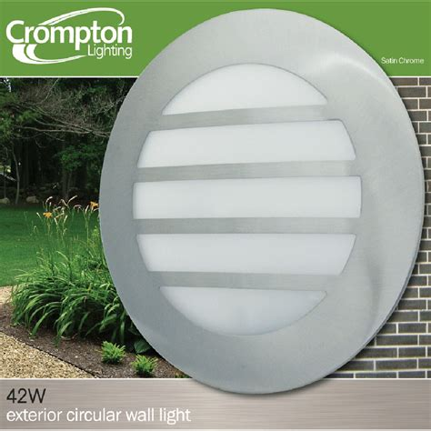 circular exterior wall light satin chrome exst035f
