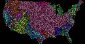 Beautiful Maps Of The World U0026 39 S Watersheds