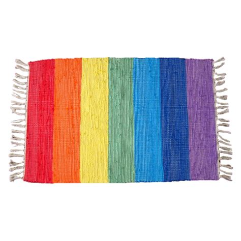Colorful Doormat by Beautiful Rainbow Rug Colorful Carpet Knitted Cloth