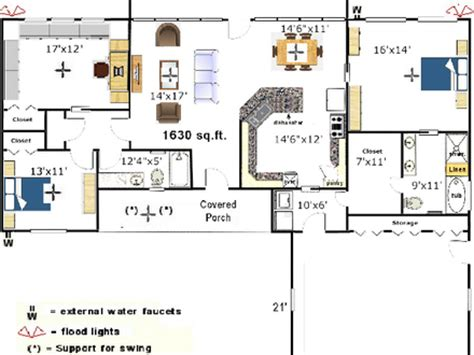 Galley Kitchen Floor Plans Small by Small Open Floor Plans Mexzhouse