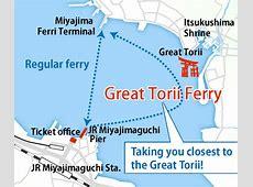 West Japan Railway Miyajima Ferry The closest view of