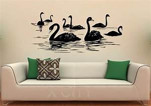 Aliexpress buy swan birds wall decal lake vinyl