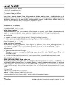 budget analyst resume template pin budget analyst resume sle on