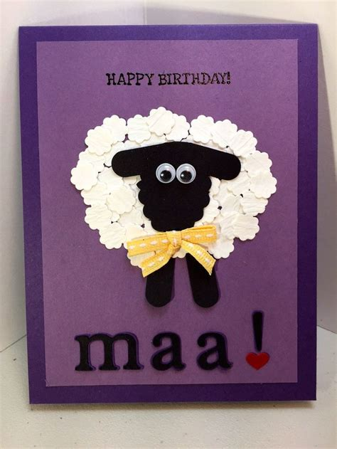 happy birthday maa humerous handmade birthday card