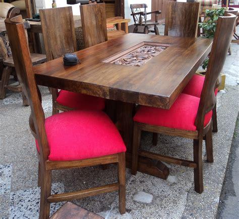 comedores rusticos muebles en rattan rusticos  teca angie