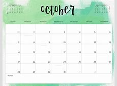 Color Pattern 2018 Printable Calendar Calendar 2018