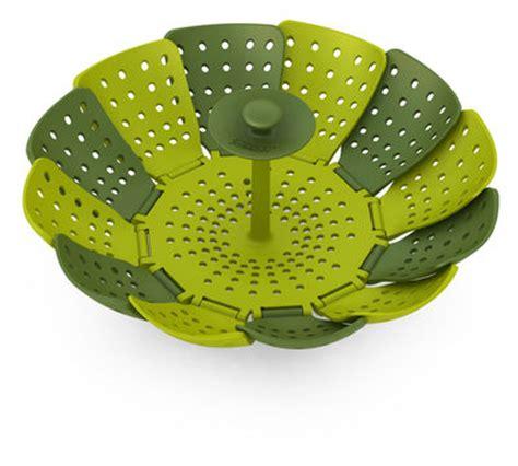ustensile de cuisine joseph joseph design panier vapeur lotus vert vert clair joseph joseph