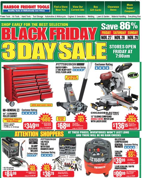 Harbor Freight Tools Black Friday 2015 Sales & Ad Scan