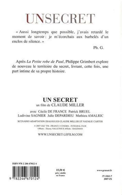 Un Secret Resume by Livre Un Secret Philippe Grimbert