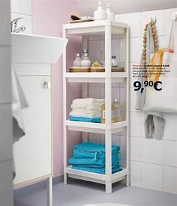 Etagere Rangement Salle De Bain : salle de bains ikea le nouveau catalogue 2017 est en ligne c t maison ~ Melissatoandfro.com Idées de Décoration