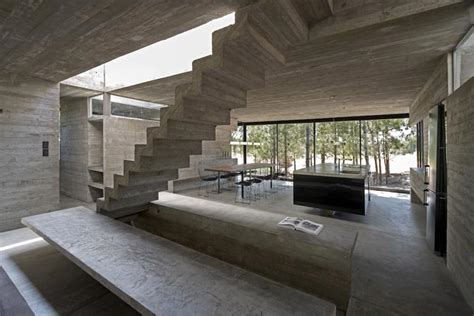 modern concrete interiors modern concrete house in a forest