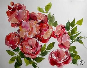 Aquarell Blumen Malen : rosen im november aquarell malen am meer ~ Frokenaadalensverden.com Haus und Dekorationen
