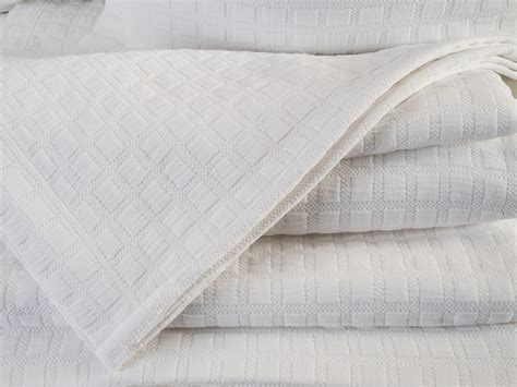 Design Port Bedding by Design Port New Disley White Woven Cotton Bedspreads