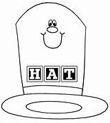 Hat Coloring Cartoon Happy Pages Sheets Colouring Printable Colorings sketch template