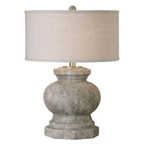 uttermost bonea stone ivory table l verdello antique stone ivory one light table l