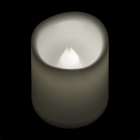 battery operated timer votive candle warm white