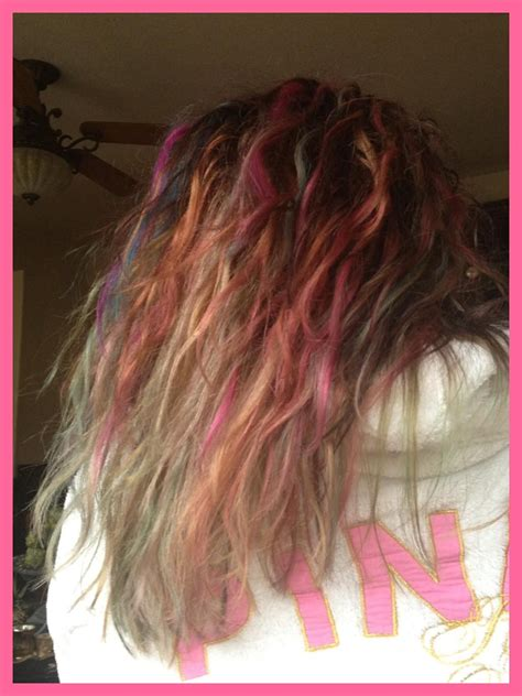 Ombre Tye Dye Hair ~ Ombre Rainbow Hair ℬᏋauti Pinterest
