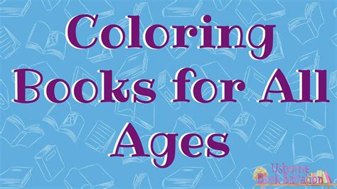 usborne coloring books   ages youtube