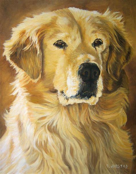 golden retriever print pet portrait commission