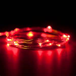 rtgs micro led 20 super bright red color lights battery