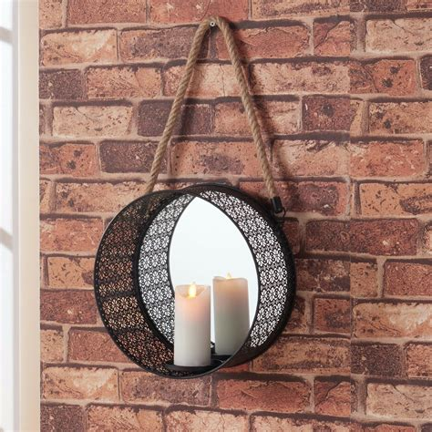 Candle Wall Sconces With Mirror by Pillar Candle Mirror Sconce Candles Holders Wall