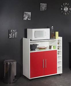 Meuble Cuisine Blanc : meuble cuisine rouge laqu cuisine en image ~ Edinachiropracticcenter.com Idées de Décoration