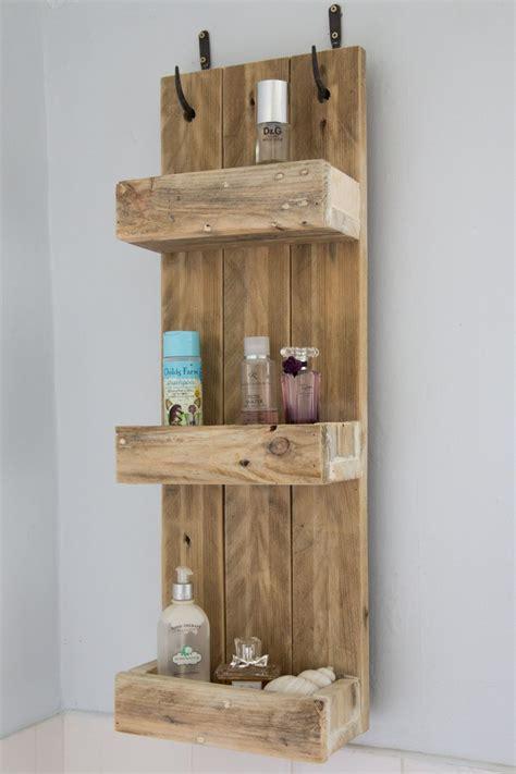 rustic wood shelf rustic bathroom shelves made from reclaimed pallet wood