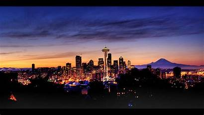 Seattle Skyline Sunrise Hdr Skylines Wallpapers Deviantart