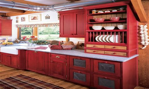 Red Kitchen Accents, Red And Yellow Country Kitchens Red