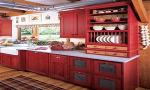 Red Kitchen Accents Red And Yellow Country Kitchens Red