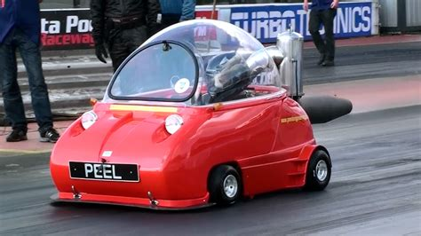Peel Trident Jet Car Spins Out - YouTube
