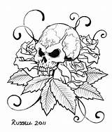 Coloring Skull Sharp Canine Tooth Pages Tattoo Cool Adult Animal Tattoos Flowers sketch template