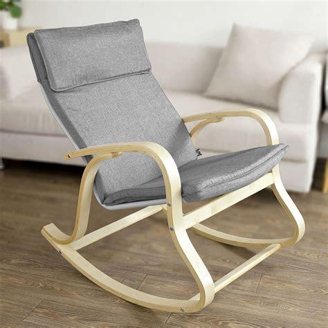 chaise design a bascule sobuy wooden rocking chair reclining relax nursing