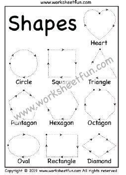 preschool worksheets shape tracing worksheetfun