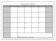 Calendarios febrero 2019 DS Michel Zbinden es