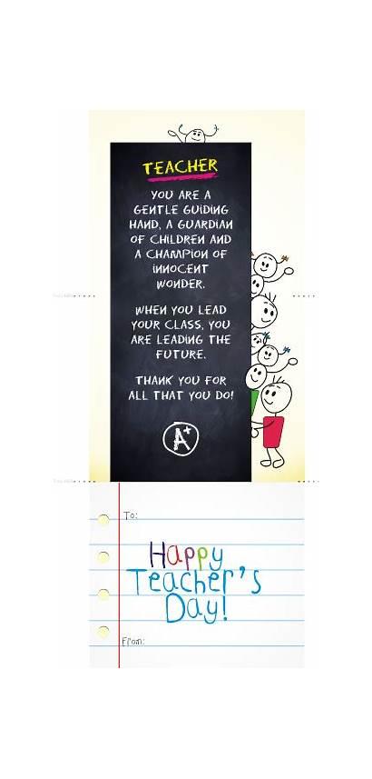 Teachers Teacher Thank Cards Card Appreciation Week