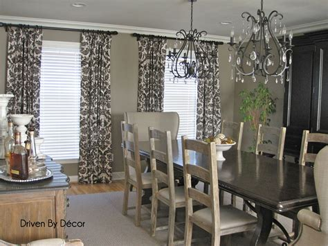 drapery panels for a gray dining room driven by decor