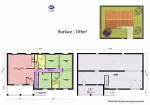 plan de maison 100m2 avec sous sol With plan maison demi sous sol