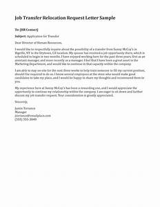 10 best images of employee relocation letter sample With cover letter for internal job transfer