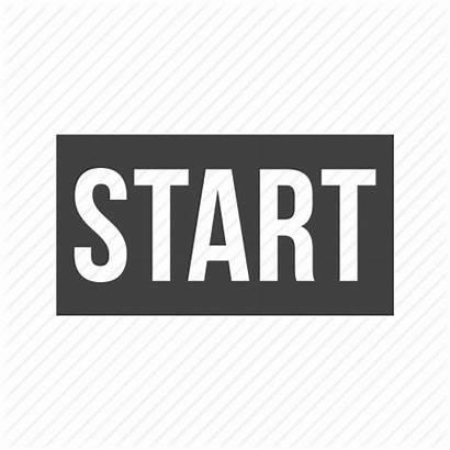 Start Icon Starting Line Running Track Icons