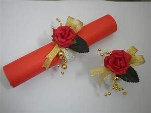 Rond De Serviette à Faire Soi Même : ronds de serviette rouge et or les cr ations d co de ~ Nature-et-papiers.com Idées de Décoration