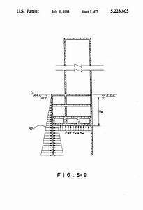 Patent Us5228805 - Water Pressure Reducing Structure Of A Raft Foundation Bottom Plate
