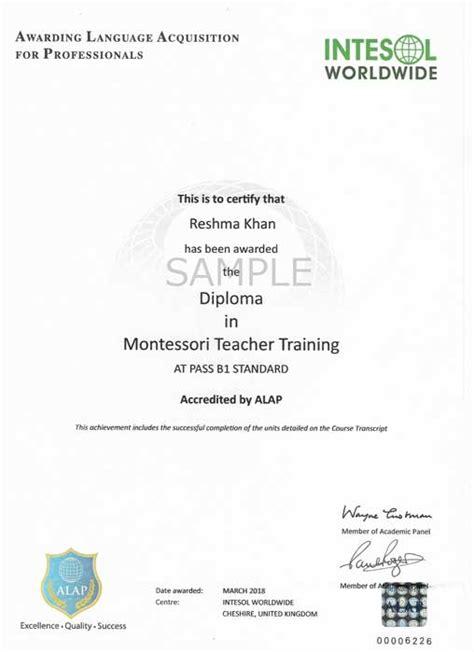 montessori teacher training early childhood teacher